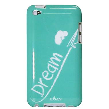 Exian iPod Touch 4 TPU Case, Dream White on Teal
