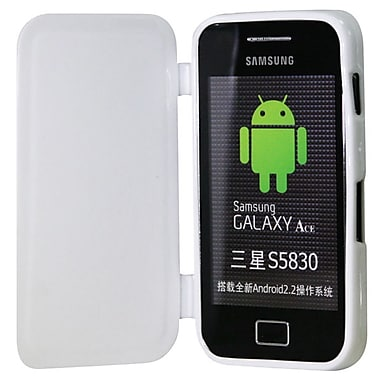 Exian TPU Case with Front Cover for Galaxy Ace, White