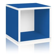 Way Basics Eco-Friendly Stackable Storage Cube Organizer, Blue - Lifetime Warranty