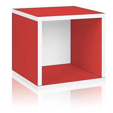 Way Basics Eco-Friendly Stackable Storage Cube Organizer, Red - Lifetime Warranty