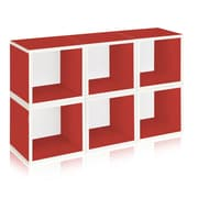 Way Basics Eco Stackable Modular Storage Cubes (6 Pack), Red