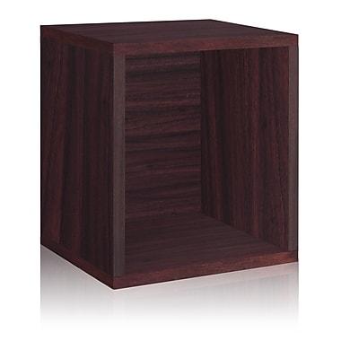 Way Basics Eco-Friendly Stackable Storage Cube Plus Organizer, Espresso - Lifetime Warranty