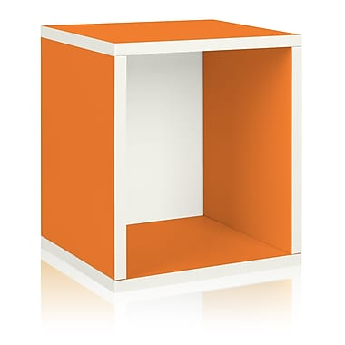 Way Basics Eco-Friendly Stackable Storage Cube Plus Organizer, Orange - Lifetime Warranty