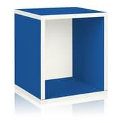Way Basics Eco-Friendly Stackable Storage Cube Plus Organizer, Blue - Lifetime Warranty