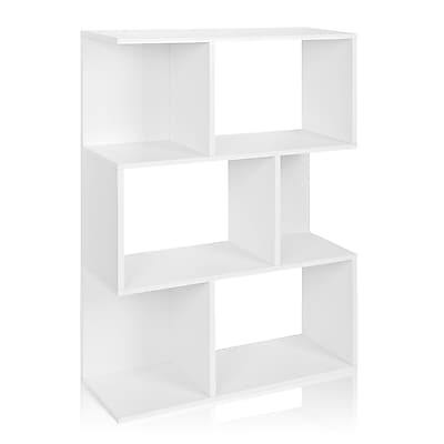 Way Basics Eco-Friendly 3 Shelf Madison Bookcase, Room Divider, Storage Shelf, White - Lifetime Warranty