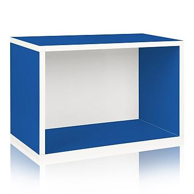 Way Basics Eco-Friendly Stackable Shelf Shoe Rack, Blue - Lifetime Warranty