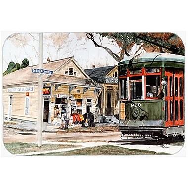 Caroline's Treasures New Orleans Streetcar Kitchen/Bath Mat; 24'' H x 36'' W x 0.25'' D