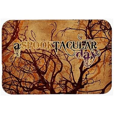 Caroline's Treasures A Spook Tacular Day Halloween Kitchen/Bath Mat; 20'' H x 30'' W x 0.25'' D