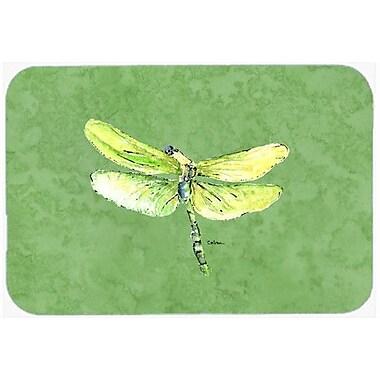 Caroline's Treasures Dragonfly on Avacado Kitchen/Bath Mat; 20'' H x 30'' W x 0.25'' D