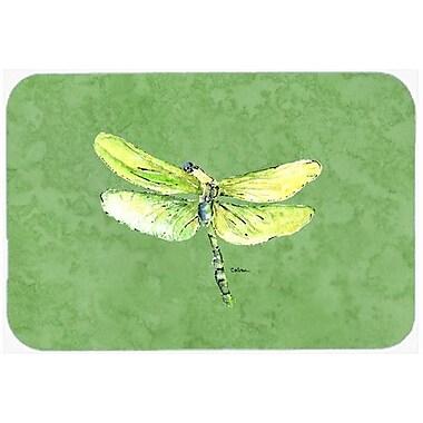Caroline's Treasures Dragonfly on Avacado Kitchen/Bath Mat; 24'' H x 36'' W x 0.25'' D