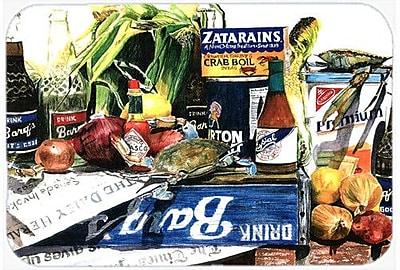 Caroline's Treasures Crab In The Middle Kitchen/Bath Mat; 20'' H x 30'' W x 0.25'' D