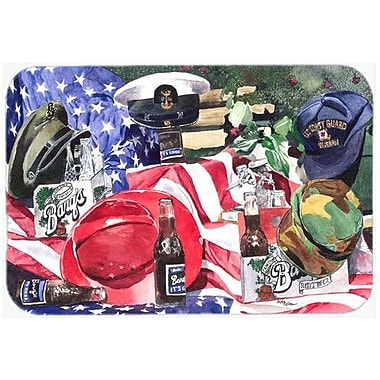 Caroline's Treasures Barq's and Armed Forces Kitchen/Bath Mat; 24'' H x 36'' W x 0.25'' D