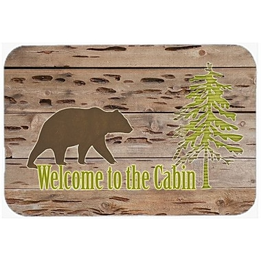 Caroline's Treasures Welcome To The Cabin Kitchen/Bath Mat; 20'' H x 30'' W x 0.25'' D