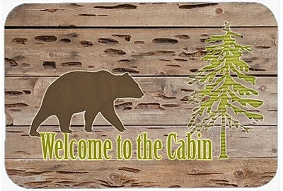 Caroline's Treasures Welcome To The Cabin Kitchen/Bath Mat; 24'' H x 36'' W x 0.25'' D