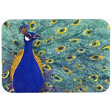 Caroline's Treasures Bird Peacock Kitchen/Bath Mat; 20'' H x 30'' W x 0.25'' D