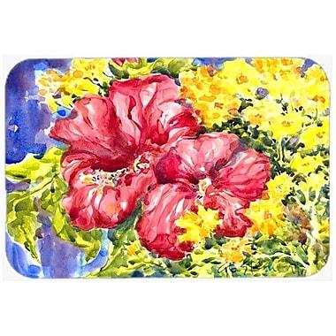 Caroline's Treasures Flower Hibiscus Kitchen/Bath Mat; 24'' H x 36'' W x 0.25'' D