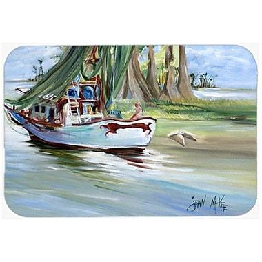 Caroline's Treasures Jeannie Shrimp Boat Kitchen/Bath Mat; 24'' H x 36'' W x 0.25'' D