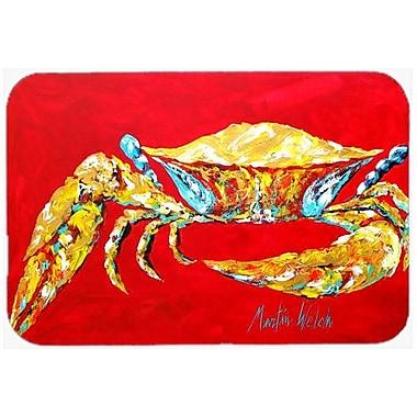 Caroline's Treasures Crab Sr. Kitchen/Bath Mat; 24'' H x 36'' W x 0.25'' D