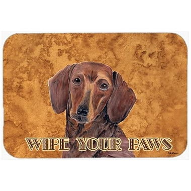 Caroline's Treasures Dachshund Kitchen/Bath Mat; 24'' H x 36'' W x 0.25'' D