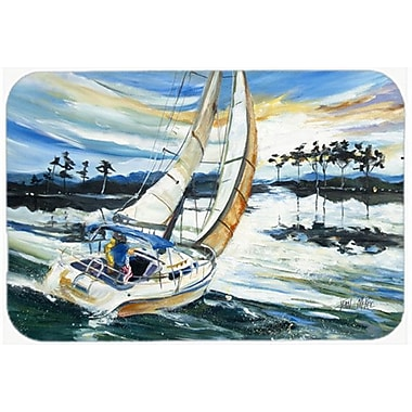 Caroline's Treasures Sailboats on Lake Martin Kitchen/Bath Mat; 24'' H x 36'' W x 0.25'' D