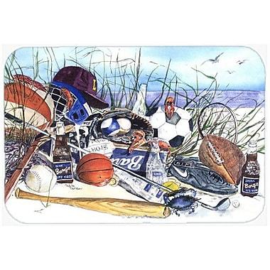 Caroline's Treasures Sports on The Beach Kitchen/Bath Mat; 24'' H x 36'' W x 0.25'' D