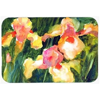 Caroline's Treasures Flower Iris Kitchen/Bath Mat; 24'' H x 36'' W x 0.25'' D