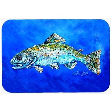 Caroline's Treasures Fish Headed Downstream Kitchen/Bath Mat; 24'' H x 36'' W x 0.25'' D