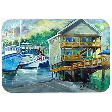 Caroline's Treasures Ocean Springs Harbour Landing Kitchen/Bath Mat; 24'' H x 36'' W x 0.25'' D