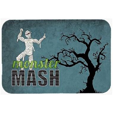 Caroline's Treasures Monster Mash w/ Mummy Halloween Kitchen/Bath Mat; 20'' H x 30'' W x 0.25'' D