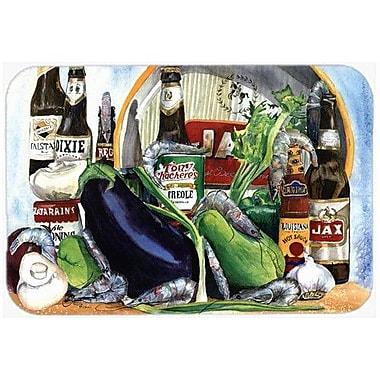 Caroline's Treasures Eggplant and New Orleans Beers Kitchen/Bath Mat; 24'' H x 36'' W x 0.25'' D