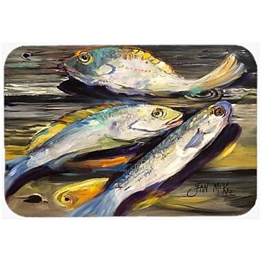 Caroline's Treasures Fish on The Dock Kitchen/Bath Mat; 20'' H x 30'' W x 0.25'' D
