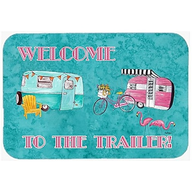 Caroline's Treasures Welcome To The Trailer Kitchen/Bath Mat; 24'' H x 36'' W x 0.25'' D