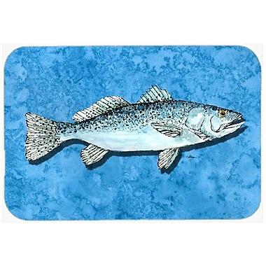 Caroline's Treasures Fish Trout Kitchen/Bath Mat; 20'' H x 30'' W x 0.25'' D