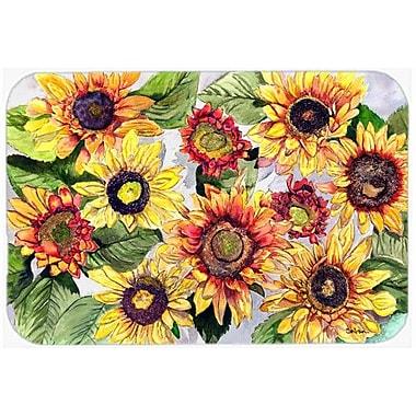 Caroline's Treasures Sunflowers Kitchen/Bath Mat; 24'' H x 36'' W x 0.25'' D