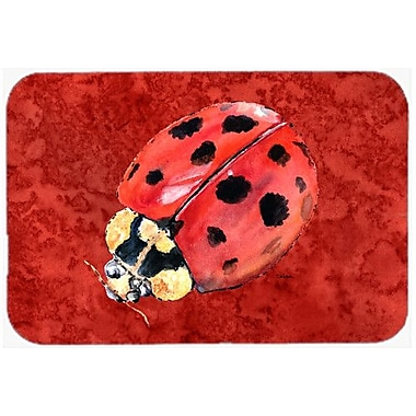 Caroline's Treasures Lady Bug DeepKitchen/Bath Mat; 20'' H x 30'' W x 0.25'' D