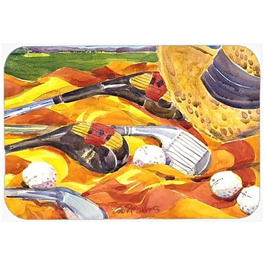 Caroline's Treasures Golf Clubs Golfer Kitchen/Bath Mat; 24'' H x 36'' W x 0.25'' D
