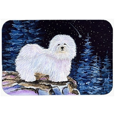 Caroline's Treasures Starry Night Coton De Tulear Kitchen/Bath Mat; 20'' H x 30'' W x 0.25'' D