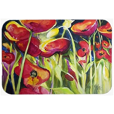 Caroline's Treasures Poppies Kitchen/Bath Mat; 20'' H x 30'' W x 0.25'' D