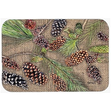 Caroline's Treasures Pine Cones Kitchen/Bath Mat; 24'' H x 36'' W x 0.25'' D