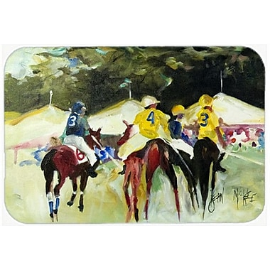 Caroline's Treasures Polo At The Point Kitchen/Bath Mat; 24'' H x 36'' W x 0.25'' D
