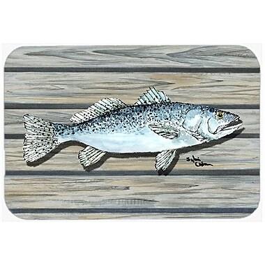 Caroline's Treasures Fish Speckled Trout Kitchen/Bath Mat; 20'' H x 30'' W x 0.25'' D