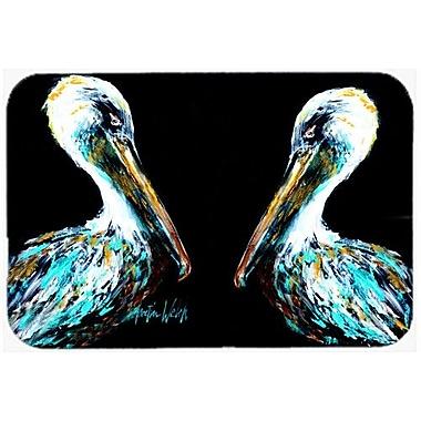 Caroline's Treasures Dressed Pelican Kitchen/Bath Mat; 24'' H x 36'' W x 0.25'' D
