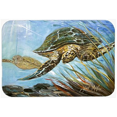 Caroline's Treasures Loggerhead Sea Turtle Kitchen/Bath Mat; 24'' H x 36'' W x 0.25'' D