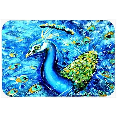 Caroline's Treasures Peacock Straight Up Kitchen/Bath Mat; 24'' H x 36'' W x 0.25'' D