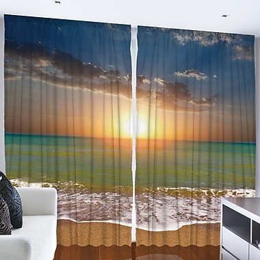 Ambesonne Curtain Panels (Set of 2); 108'' W x 84'' L