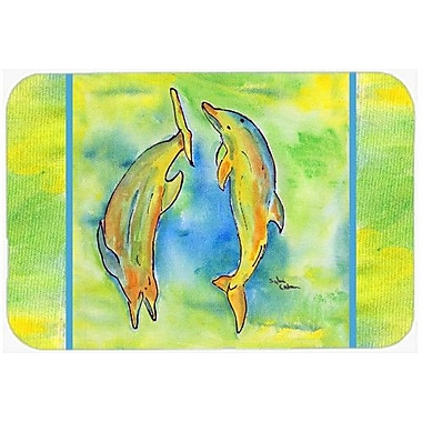 Caroline's Treasures Dolphin Kitchen/Bath Mat; 24'' H x 36'' W x 0.25'' D