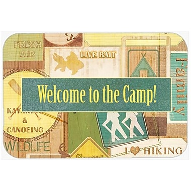 Caroline's Treasures Welcome To The Camp Kitchen/Bath Mat; 20'' H x 30'' W x 0.25'' D