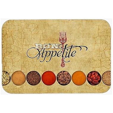 Caroline's Treasures Bon Appetite and Spices Kitchen/Bath Mat; 20'' H x 30'' W x 0.25'' D