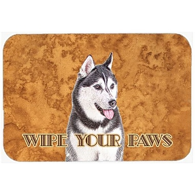 Caroline's Treasures Alaskan Malamute Wipe Your Paws Kitchen/Bath Mat; 20'' H x 30'' W x 0.25'' D