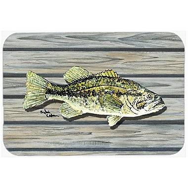 Caroline's Treasures Fish Bass Small Mouth Kitchen/Bath Mat; 20'' H x 30'' W x 0.25'' D